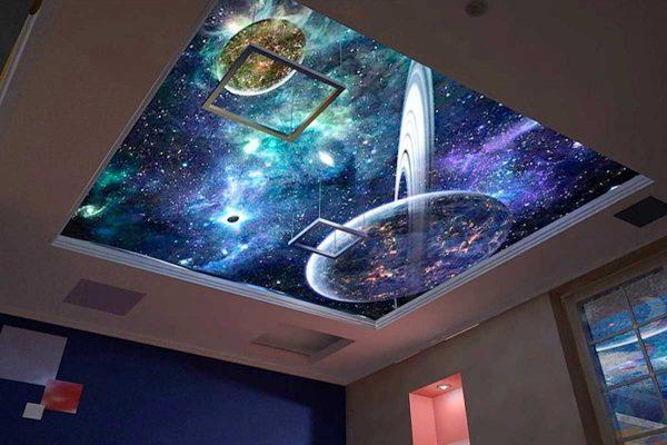 освещение натяжных потолков - галактика