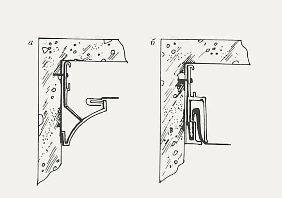 профиль для натяжного потолка видимый и невидимый