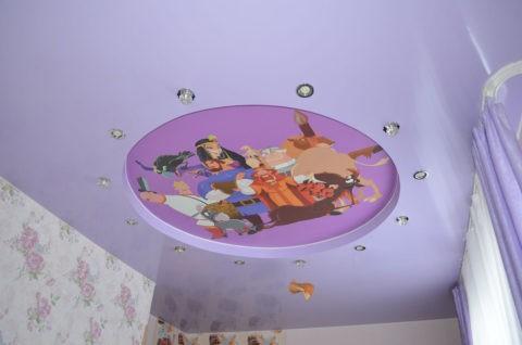 натяжной потолок в детскую комнату - вредны ли натяжные потолки