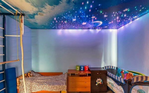 натяжной потолок звёздное небо в детской