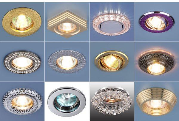 встроенные точечные светильники