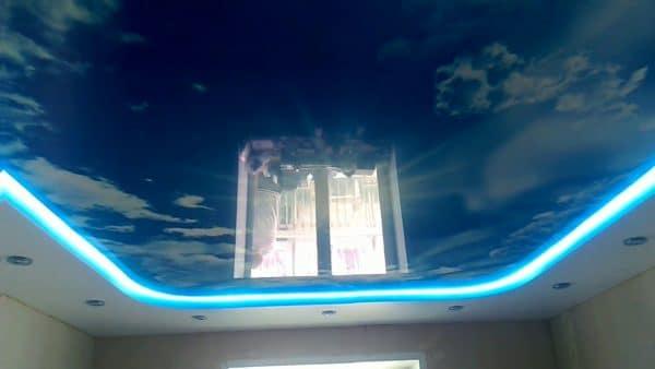 освещение натяжного потолка с LED-подсветкой