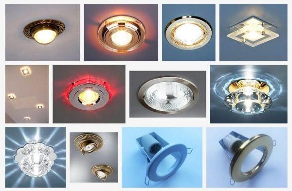 замена лампочек в натяжном потолке