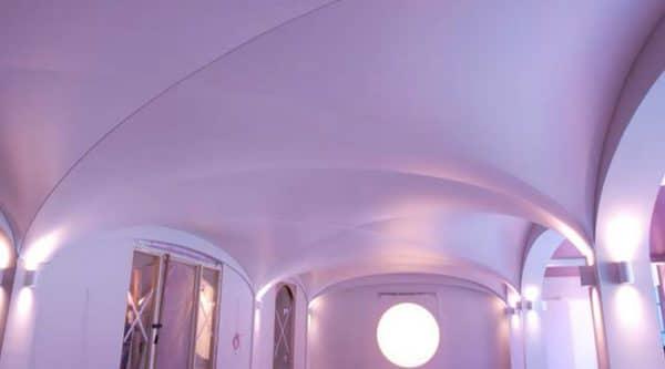 куполообразный натяжной потолок сложной формы