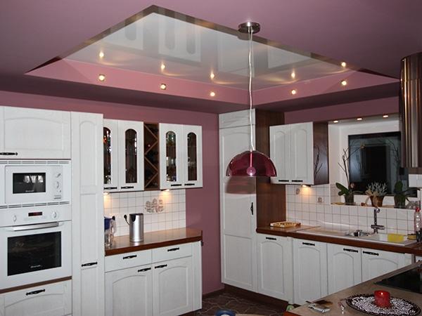 двухуровневый натяжной потолок от Fran studio