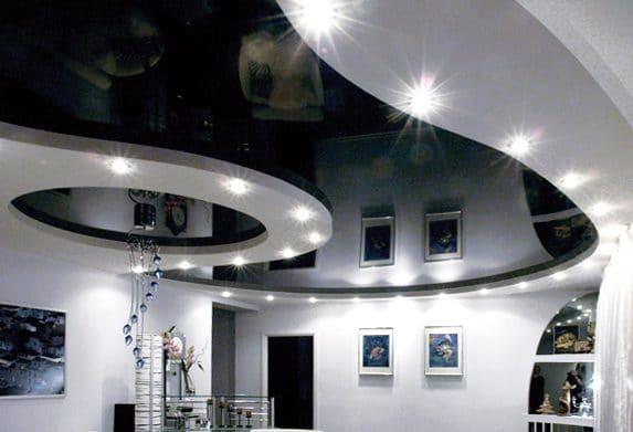 овальные натяжные потолки