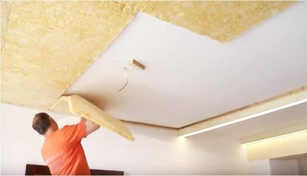 шумоизоляция под натяжной потолок