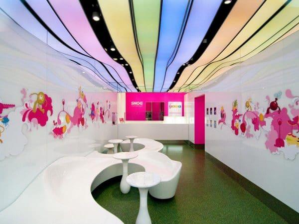 французский натяжной потолок Renolit многоцветный