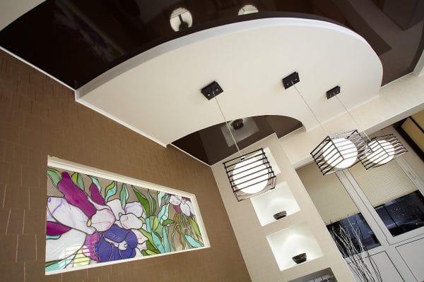 Многоуровневые французские натяжные потолки Saros Design