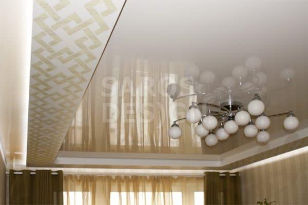 многоуровневый французский натяжной потолок Saros Design
