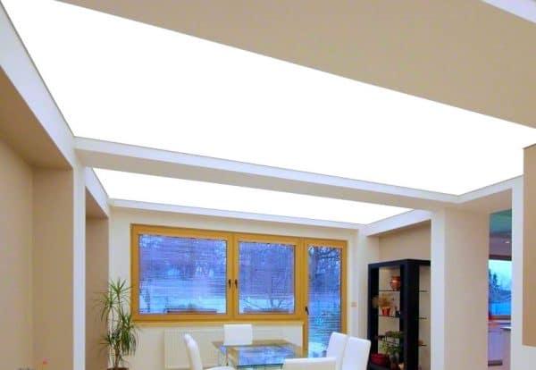 светопропускающий натяжной потолок сарос