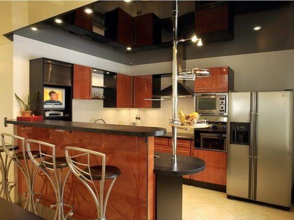 Кухня с натяжным потолком Extenzo