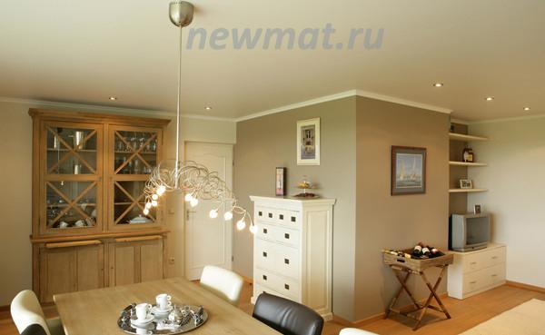 классический натяжной потолок Newmat