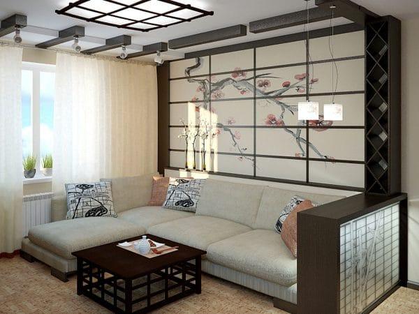 натяжные потолки в японском стиле
