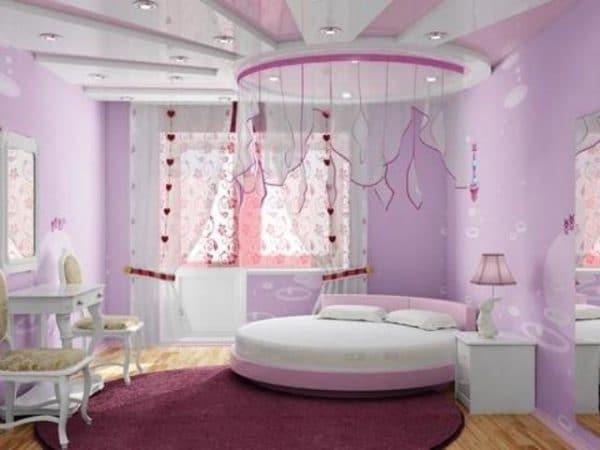 детская комната в сиреневых тонах