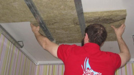 звукоизоляция-шумоизоляция натяжного потолка