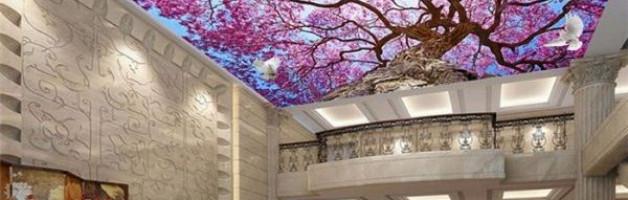 Натяжные потолки сакура