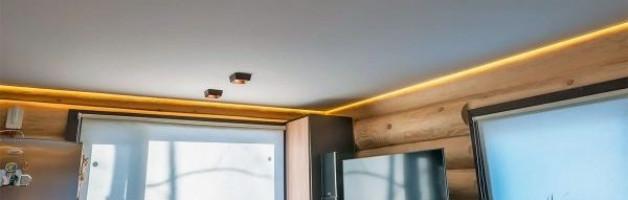 Натяжные потолки в деревянных домах