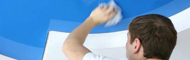 как мыть матовый натяжной потолок