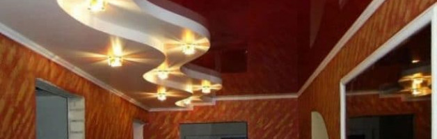 освещение в коридоре с натяжным потолком
